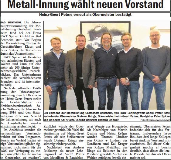 GN-Zeitungsartikel Metall-Innung